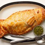 fish ideas, pastry wrapped fish design with sauce