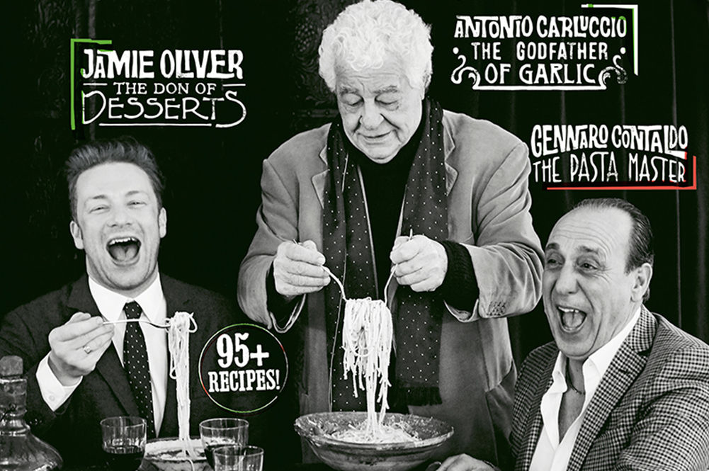 Italian issue magazine with Jamie Oliver, Antonio Caluccio and Gennaro Contaldo