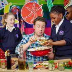 Food Revolution Day - Jamie at school with children eating and cooking