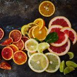 slices of citrus fruits scattered
