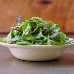 Bowl of leafy salad