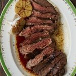 perfect steak cooked medium rare on a plate