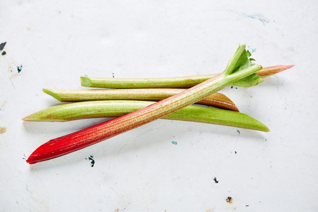 seasonal vegetables include rhubarb in April