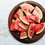 watermelon recipes - sliced watermelon on a plate