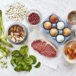 food items packed with iron, spinach, beans, steak, apricot, pulses, nuts
