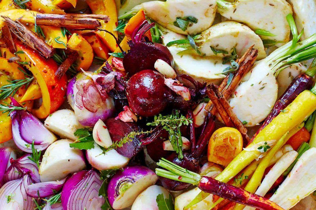 meat-free mixed vegetables seasoned