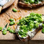 summer vegetarian recipes broad bean bruschetta