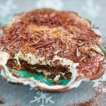 tiramisu recipe with chocolate shavings on top