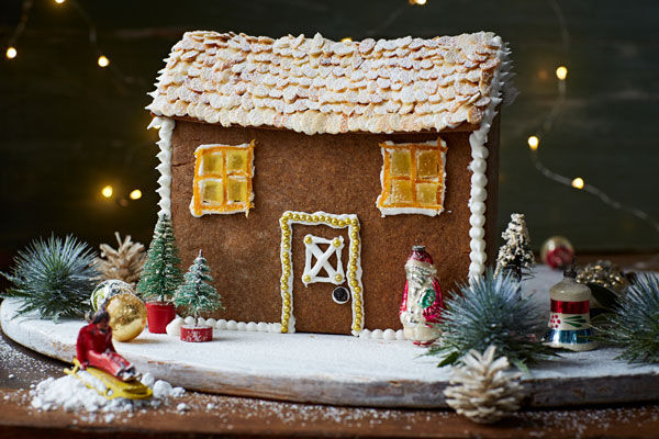 gingerbread house decorated for christmas