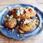 hasselback potatoes with herbs and cheese