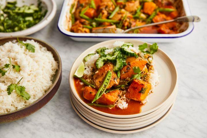 Jamie for Tesco: Thai chicken tray bake