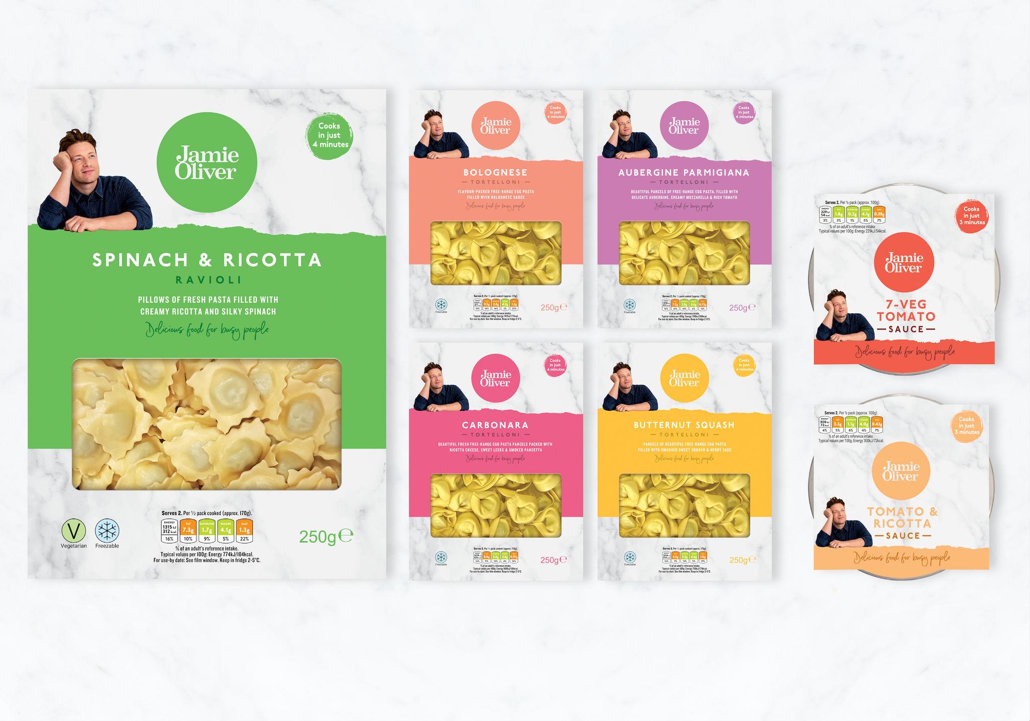 Jamie Oliver's new range of pasta