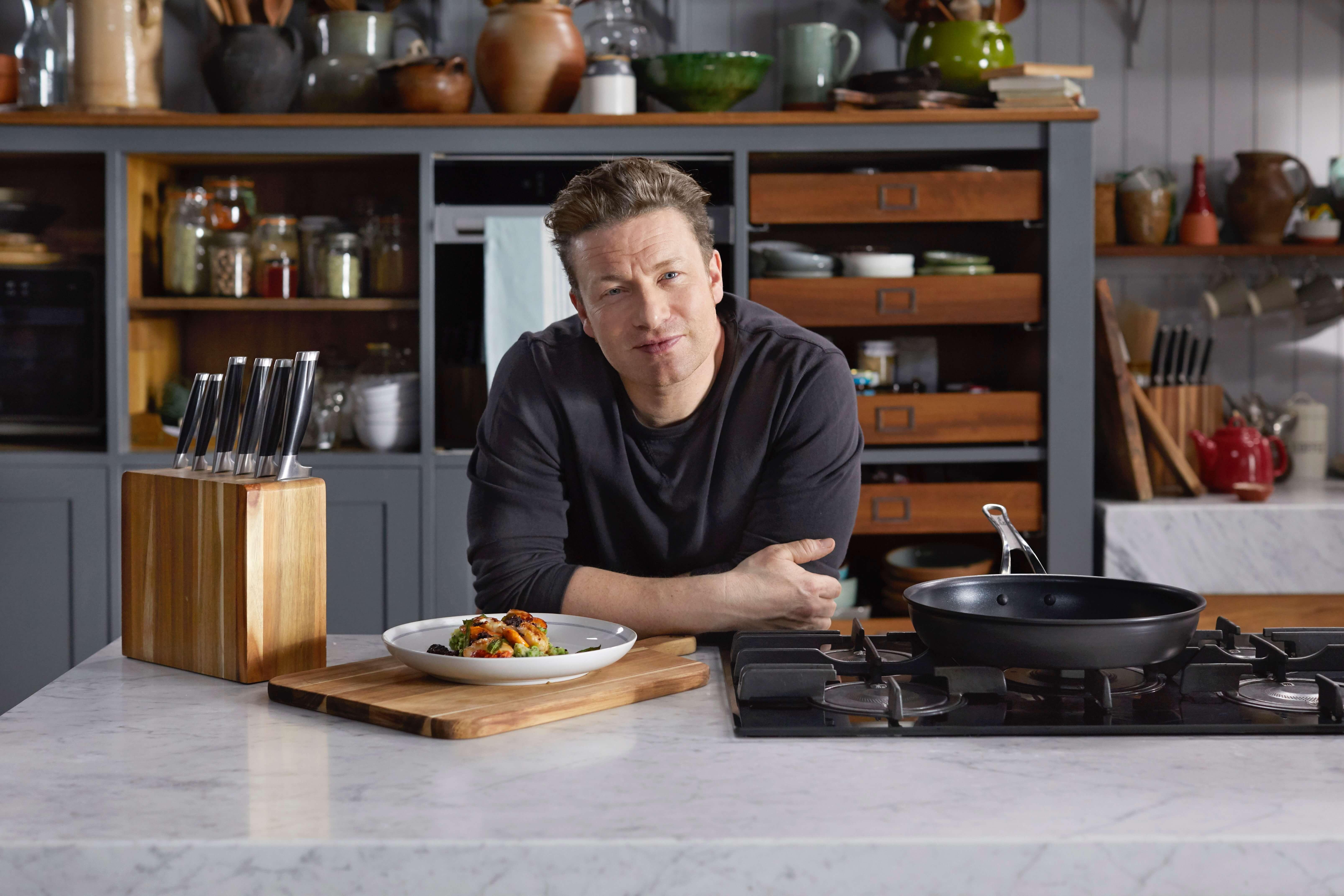 Jamie in his kitchen