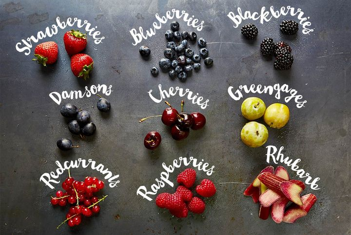 Image of berries and fruits you can use to make jam
