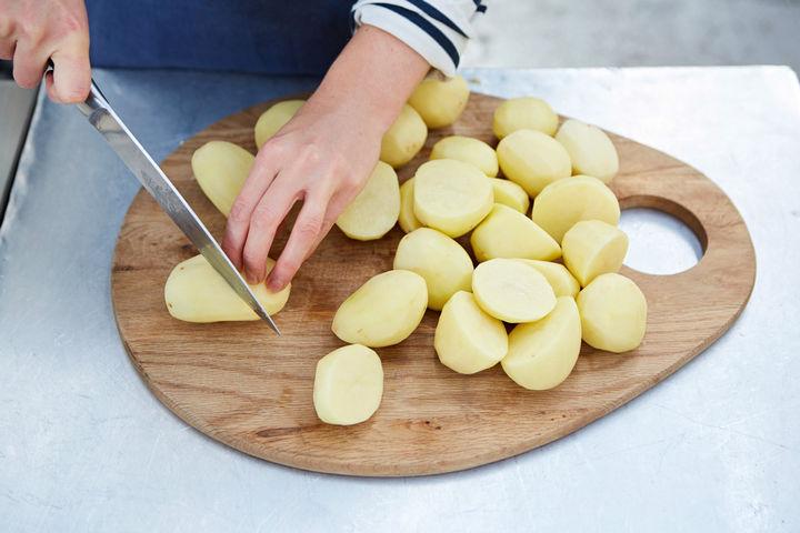 Roast potatoes - step one