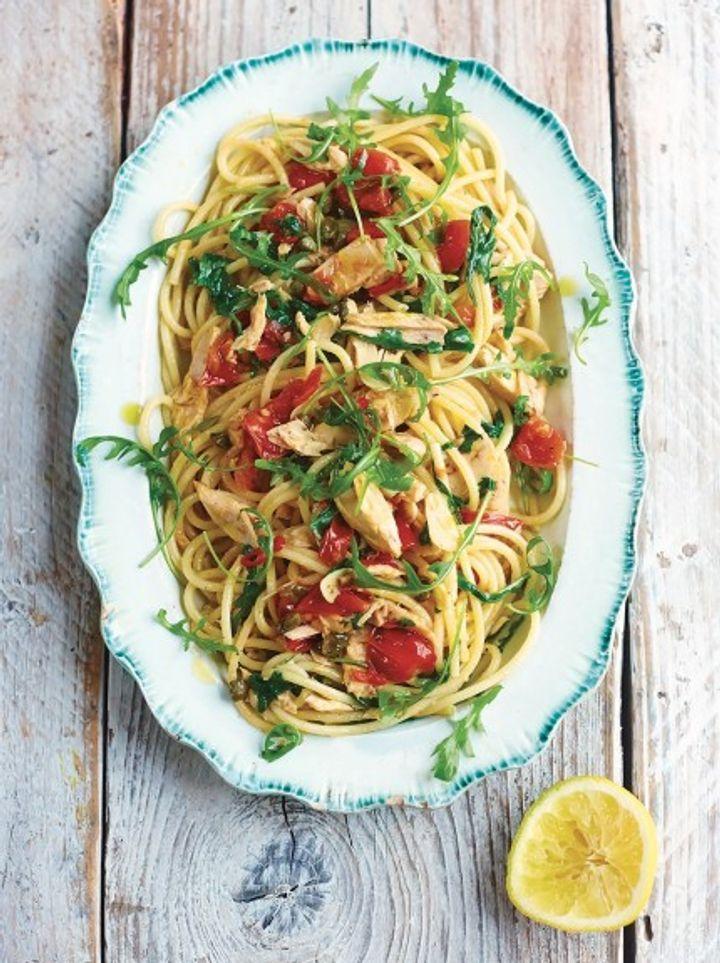 Seafood pasta - tuna bucatini