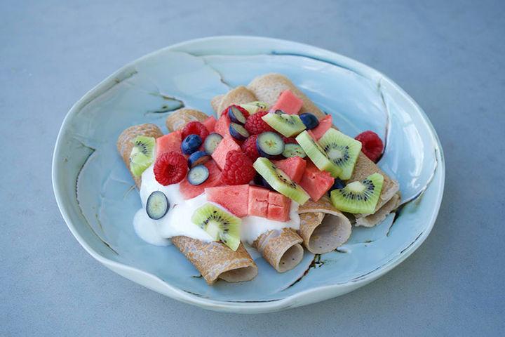 Breakfast fruit recipe - coconut