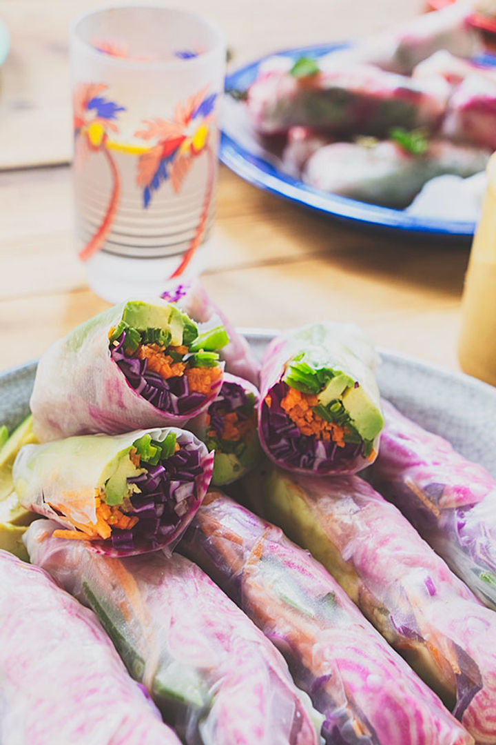 Healthy lunches - veggie rolls