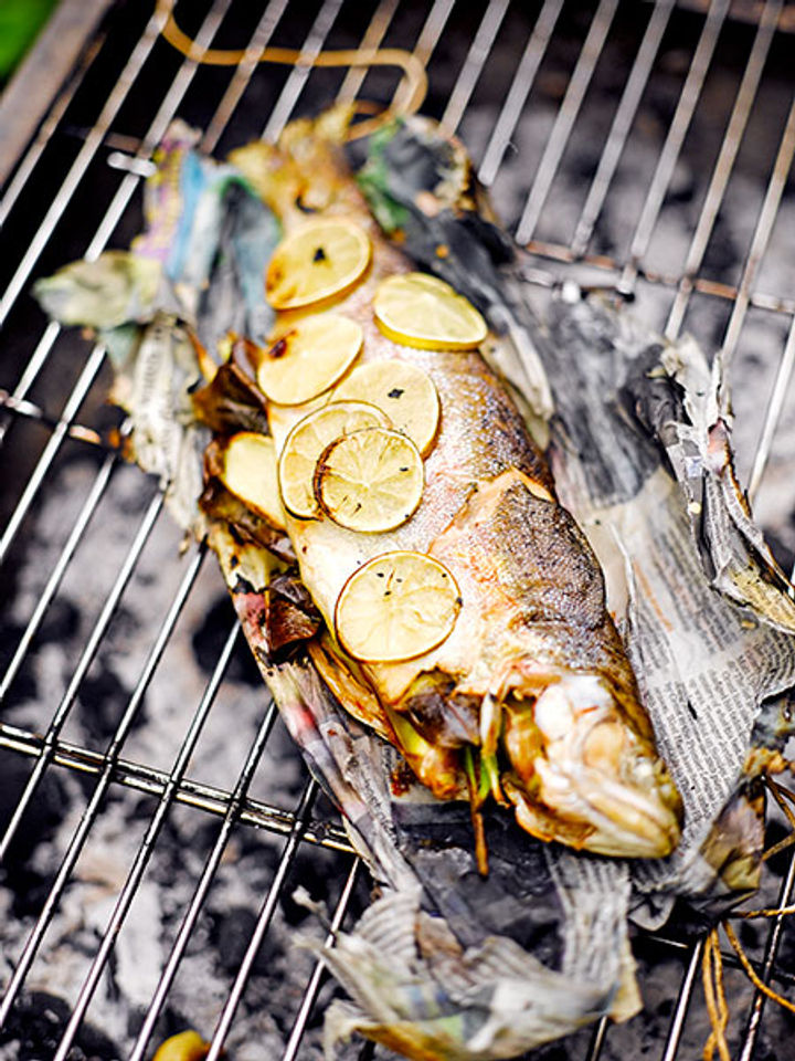 Barbecued fish - step three