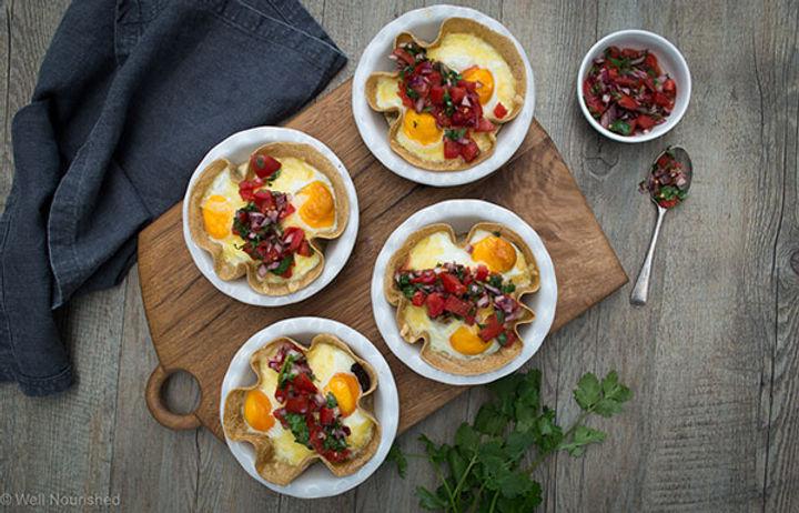 Omelette - tortilla cups