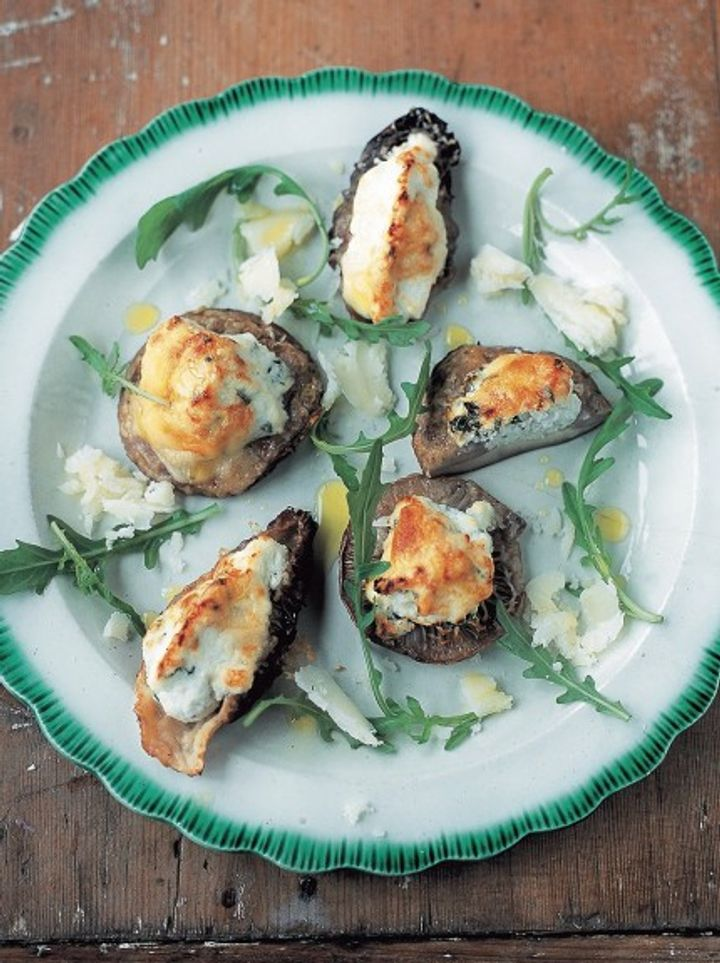 Foraging - baked mushrooms with ricotta