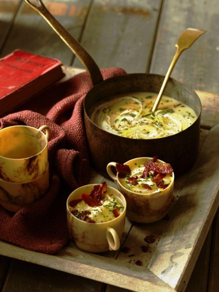 Bonfire feast - baked potato soup recipe