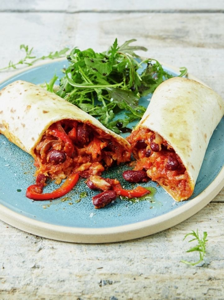 Vegetarian meals - cool Mexican bean wraps