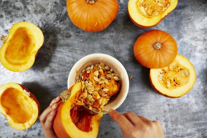 Leftover pumpkin ideas - roasted pumpkin seeds
