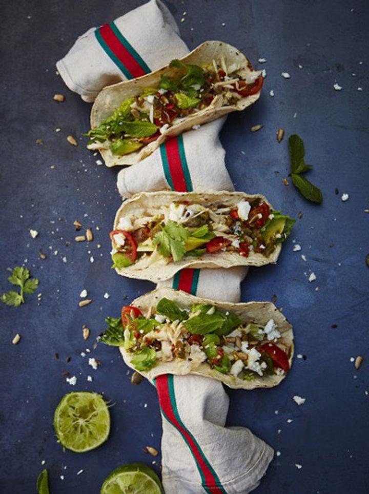 mexican tacos with avocado