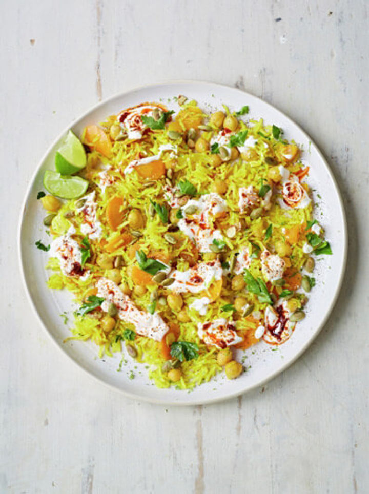 Image of bowl of veggie pilaf, 5-a-day lunch