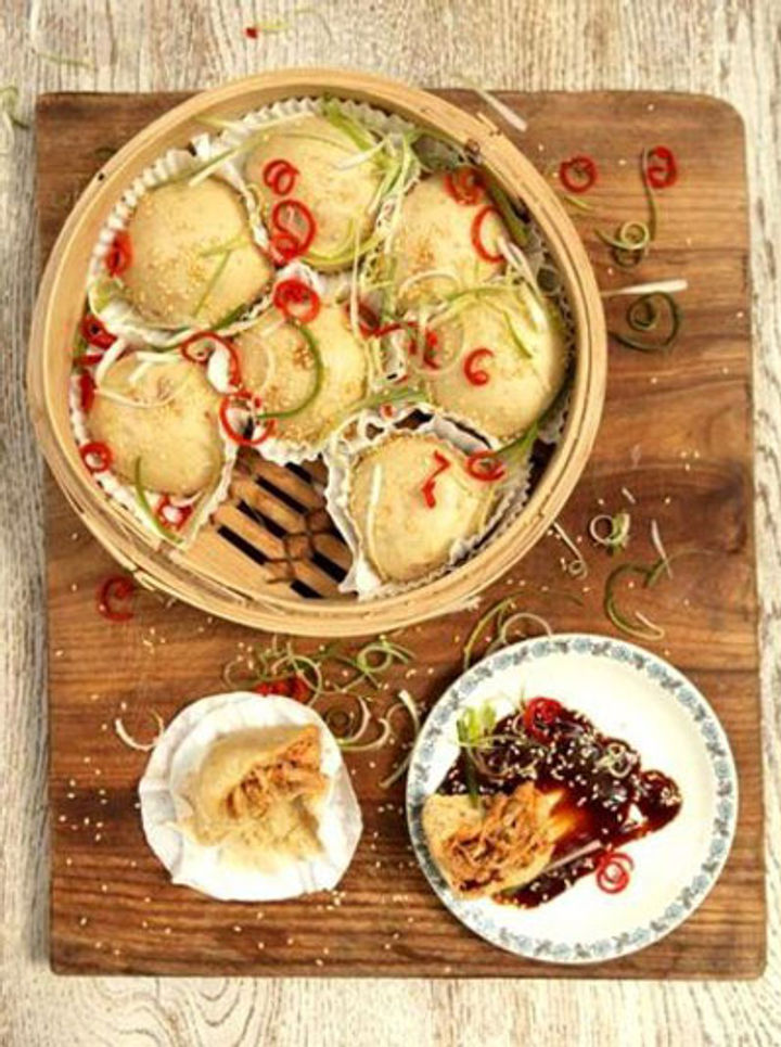 Leftover chicken - dim sum