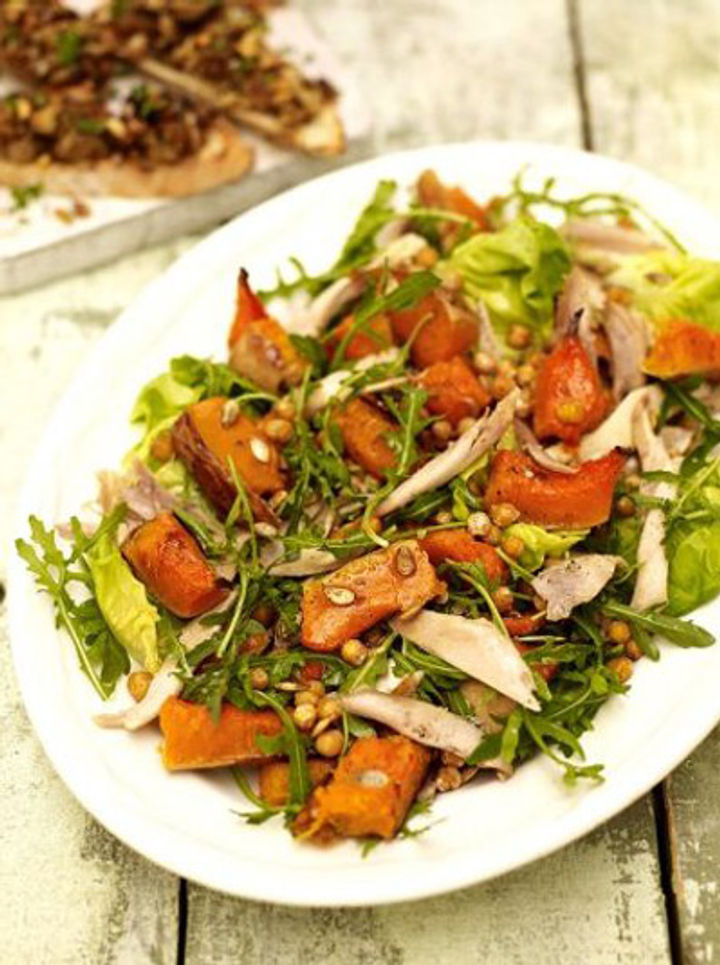 Leftover chicken and squash salad recipe