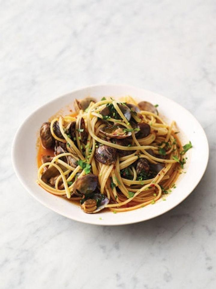 Easy Italian pasta recipe - 'nduja vongole