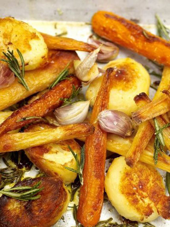 Parsnips, carrots and roast potatoes recipe