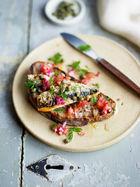 Grilled sardines on toast