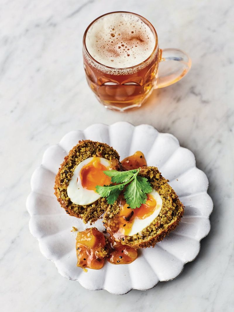 Rogan josh Scotch eggs