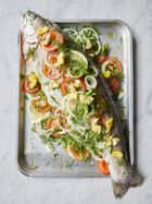 Mary Berry's whole roasted trout