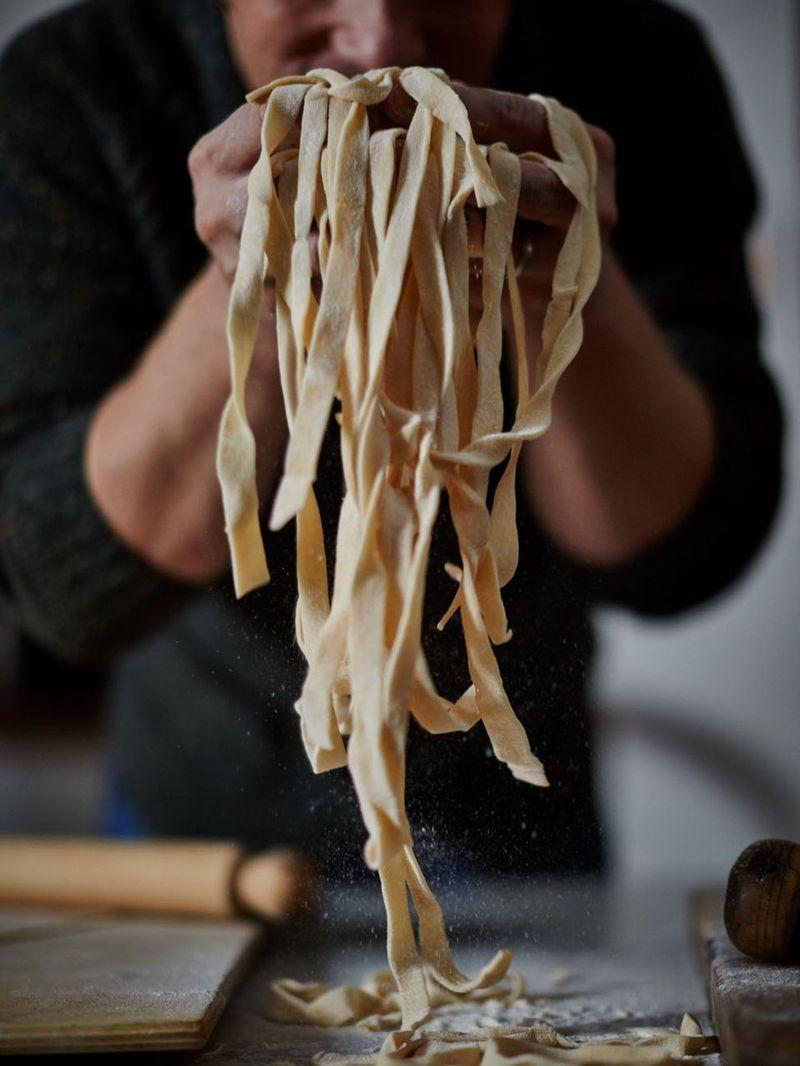 Super-quick fresh pasta