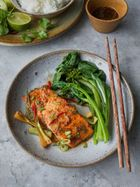 Soy-baked trout