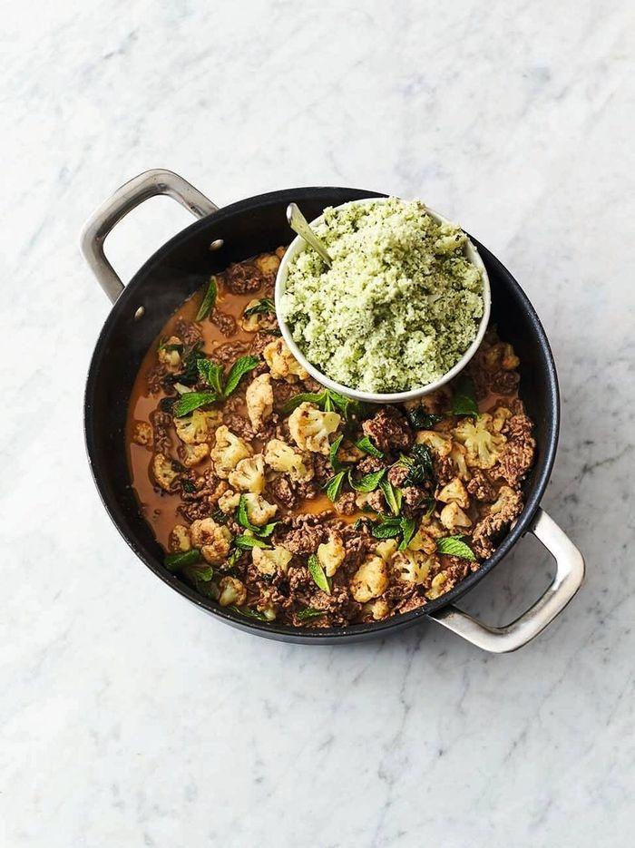 Spicy beef & cauli rice