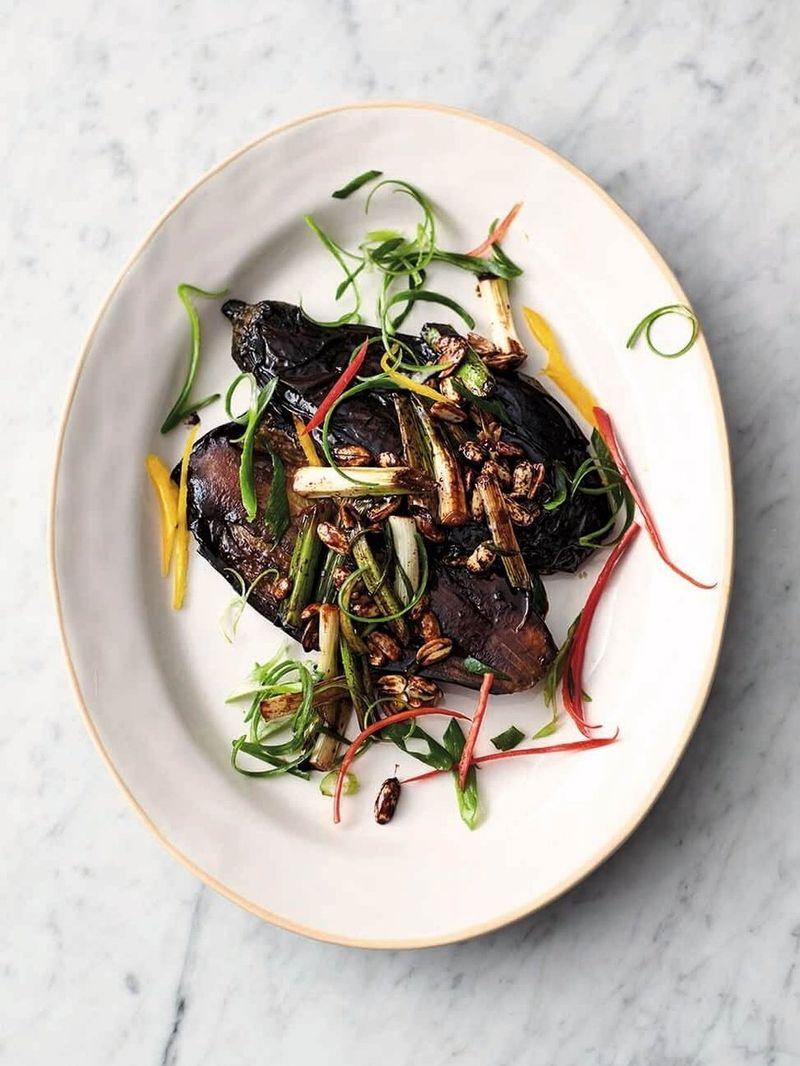 Sticky teriyaki aubergine