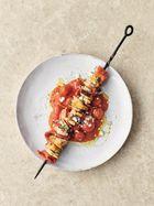 Garlic prawn kebabs