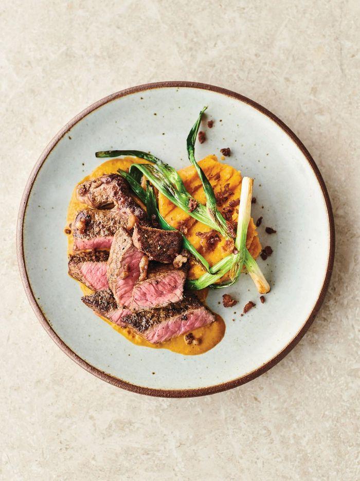 Seared steak & red chimichurri