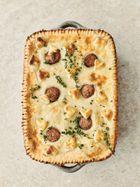 Sausage & mash pie