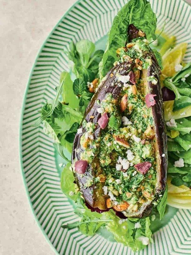 Moreish aubergine salad