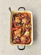 Pepper & chicken jalfrezi traybake
