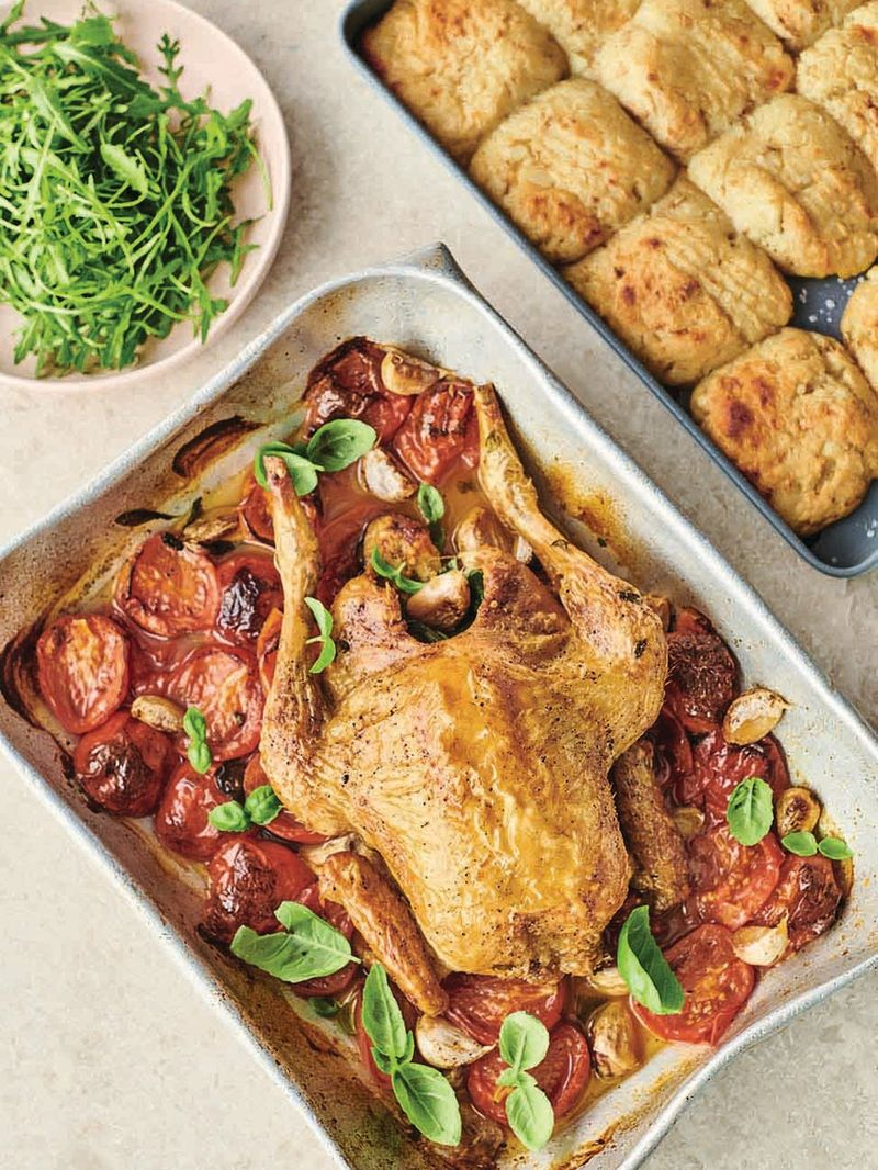 Roast chicken Margherita