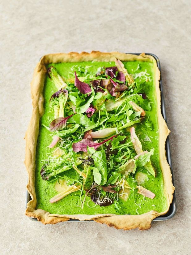 Avocado pastry quiche