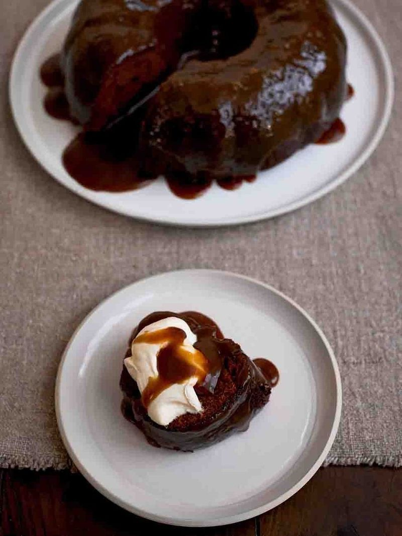 Scrumptious sticky toffee pudding