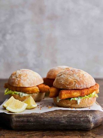 Trout fish finger baps